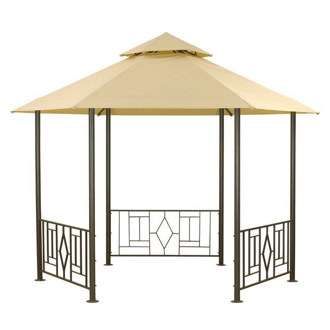 CLEARANCE - Canopy for 3.5m Hexagonal Patio Gazebo - Two Tier