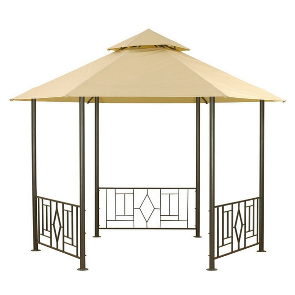 Canopy For 3 5m Hexagonal Patio Gazebo Two Tier Gazebo