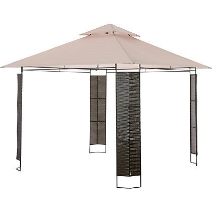 Argos Collections Rattan Effect 3m x 3m Patio Gazebo Replacement Canopy 305/5849