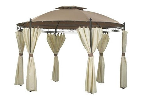 Side Panel Set for 3.5m Round Patio Gazebo - Set of 6