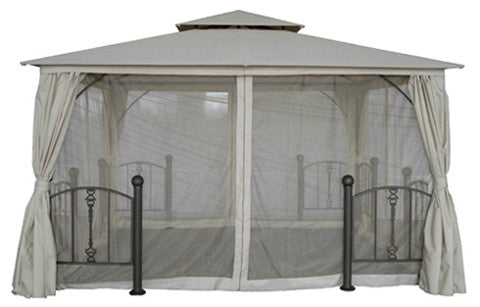 The Range Turin Post 3.5m x 3.5m Patio Gazebo Replacement Canopy GHRMGO-01, 376788