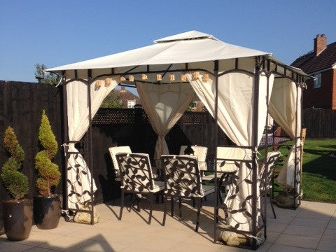 Side Panel Set For 3m X 3m Patio Gazebo 262cm Curtain