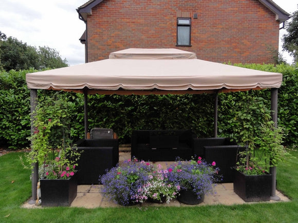 Lilo Leisure Deluxe Grand Pavilion 3m x 4m Patio Gazebo Replacement Canopy GSET400