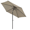 The Range 2.7m Aluminium Parasol Replacement Canopy