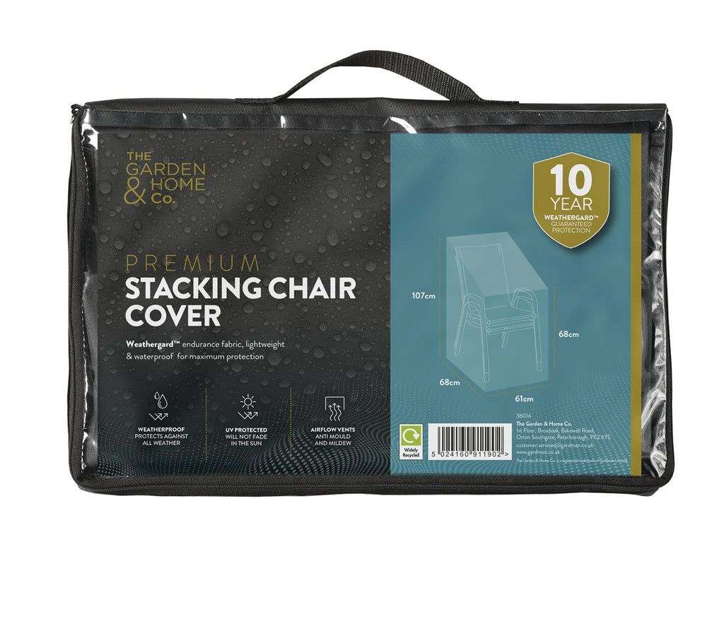 Premium Stacking Chair Protective Cover with Weathergard