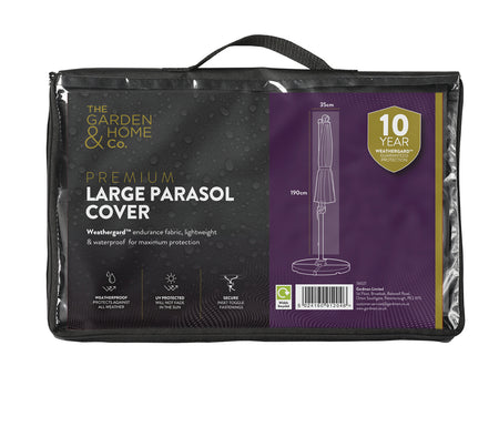 Premium Protective Parasol Cover with Weathergard