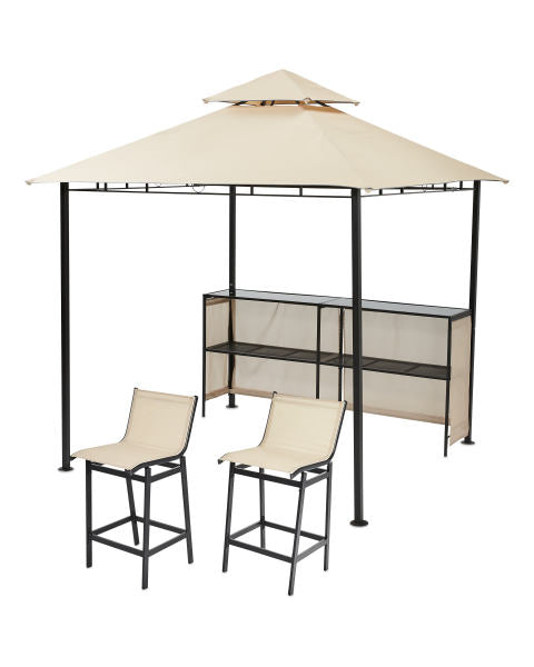 Canopy for 2.4m x 2.4m Aldi Gardenline Bar Patio Gazebo - Two Tier