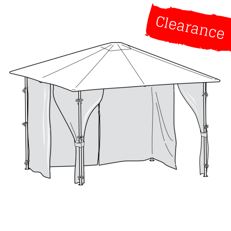 CLEARANCE - Universal Side Panel Set for 2.5m x 2.5m Patio Gazebo - Set of 4