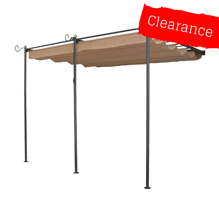 CLEARANCE - Canopy for 3.3m x 3m Retractable Patio Gazebo - Wall Mounted