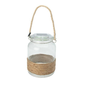 Solar Clear Hanging Glass Jar for Gazebo or Garden
