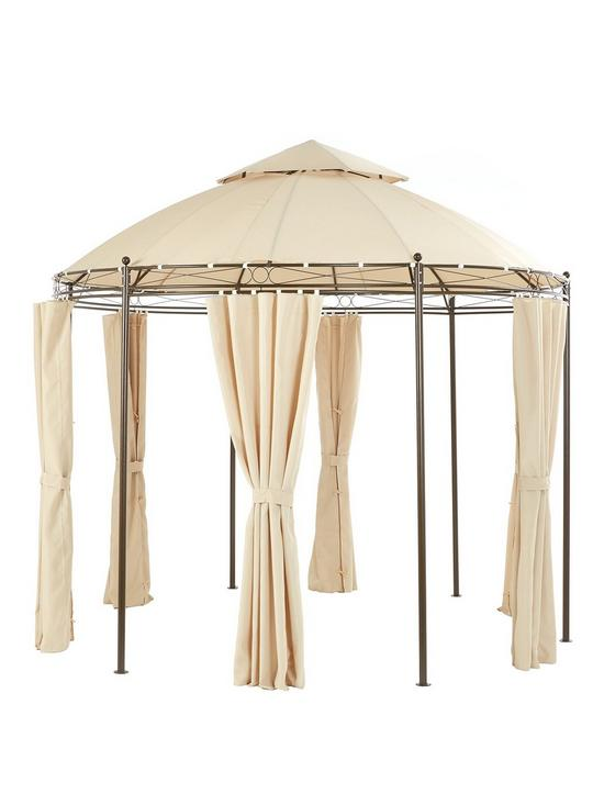 Littlewoods 3m Round Steel Gazebo with Double Roof Replacement Canopy 2CD25EI