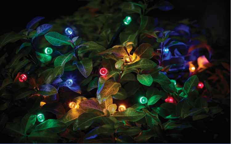 Outdoor LED Solar String Lights for Gazebo or Marquee Multi coloured