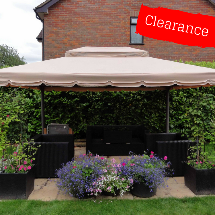 CLEARANCE - Canopy for 3m x 4m Patio Gazebo - Two Tier