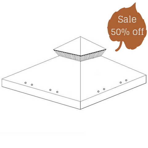 Canopy for 3m x 3m Patio Gazebo - Two Tier - Universal