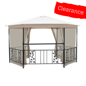 CLEARANCE - Canopy for 4m Hexagonal Patio Gazebo - Single Tier