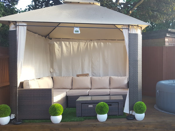 Side Panel Set For 3m X 3m Patio Gazebo 275cm Curtain