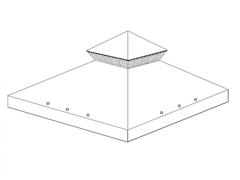 Universal Canopy for 3m x 3m Patio Gazebo - Two Tier