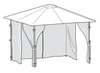 Universal Side Panel Set for 3m x 3m Patio Gazebo - Set of 4