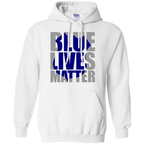 Blues Lives Matter Pullover Hoodie 8 oz