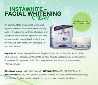 InstaWhite Facial Whitening Cream - 15gm