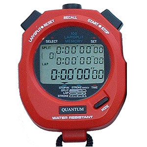 Quantum 898 Stopwatch 100 memory Red