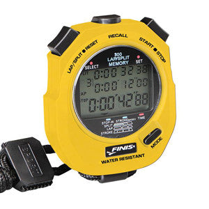 Finis 3x300 memory stopwatch yellow
