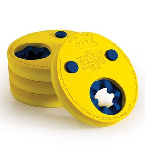 Zoggs Float discs/armbands pack of four, yellow.