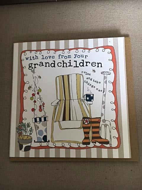 With love from your grandchildren greeting card