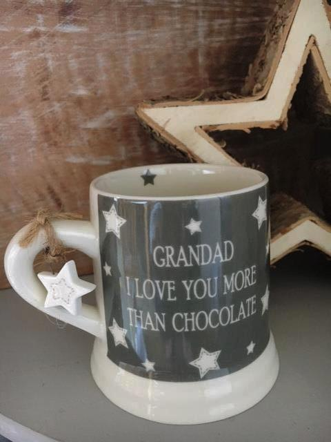 Grandad I love you more than chocolate mug