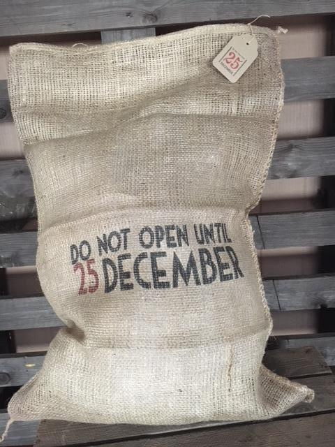 Hessian Christmas Sack - Do not open until 25th December