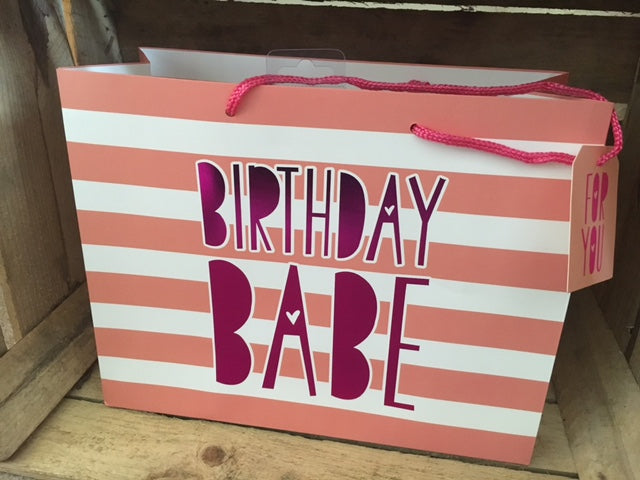 Birthday Babe medium gift bag