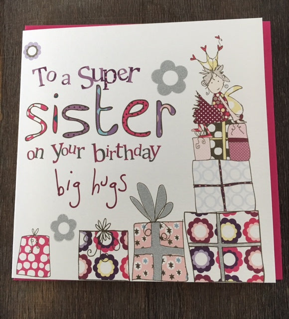 Super Sister birthday card