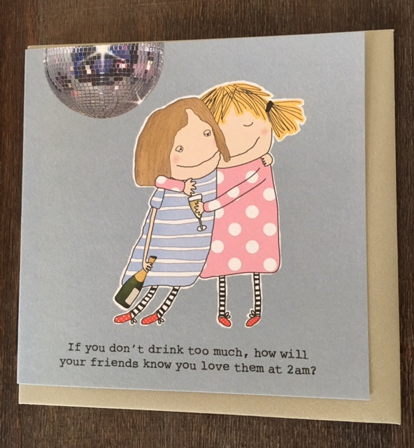 Greeting card - how will your friends know you love them at 2am?