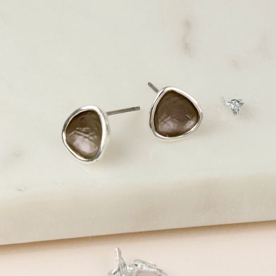 Bronze Irregular shape stud earrings
