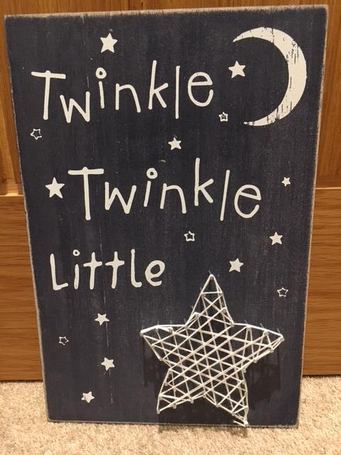 Twinkle Twinkle Little Star string art picture