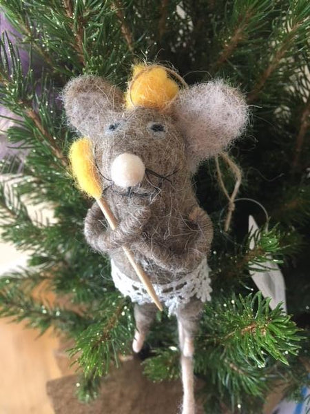 Wool Mouse with wand