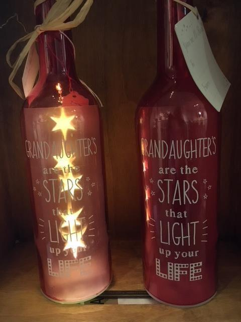 Grandaughters LED bottle