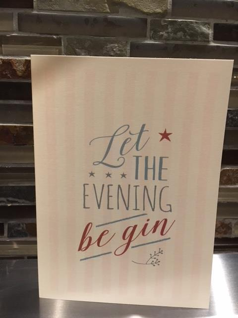 Let the evening be gin Greetings card