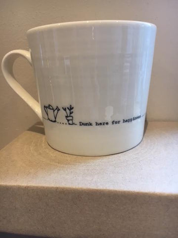 Dunk here for happiness mug
