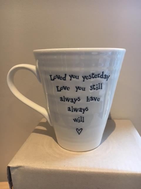 Loved you yesterday mug