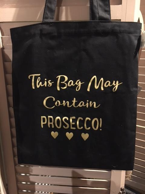This bag may contain prosecco tote