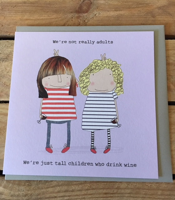 We're not really adults greetings card