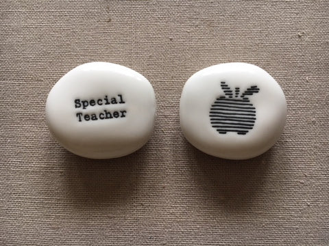 Teacher porcelain pebble