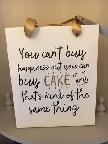 You can buy cake gift bag