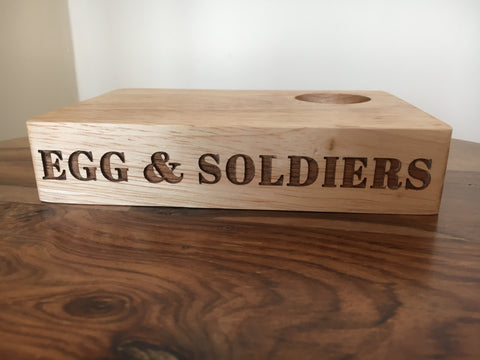 Wooden Egg & Soldiers Block