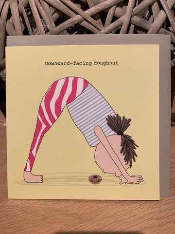 Downward-facing doughnut card