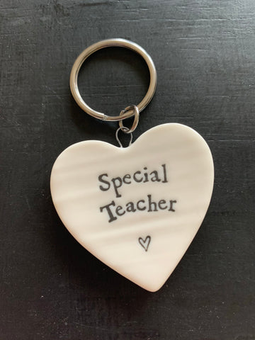 Porcelain special teacher keyring