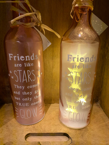 Friends are like stars LED bottle