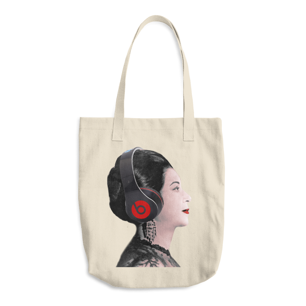 Beats by Um Khalthoum Arabic Tote Bag