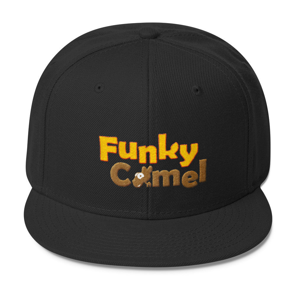 Funky Camel Embroidered Snapback Cap